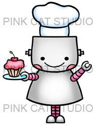 Robot clipart female #11