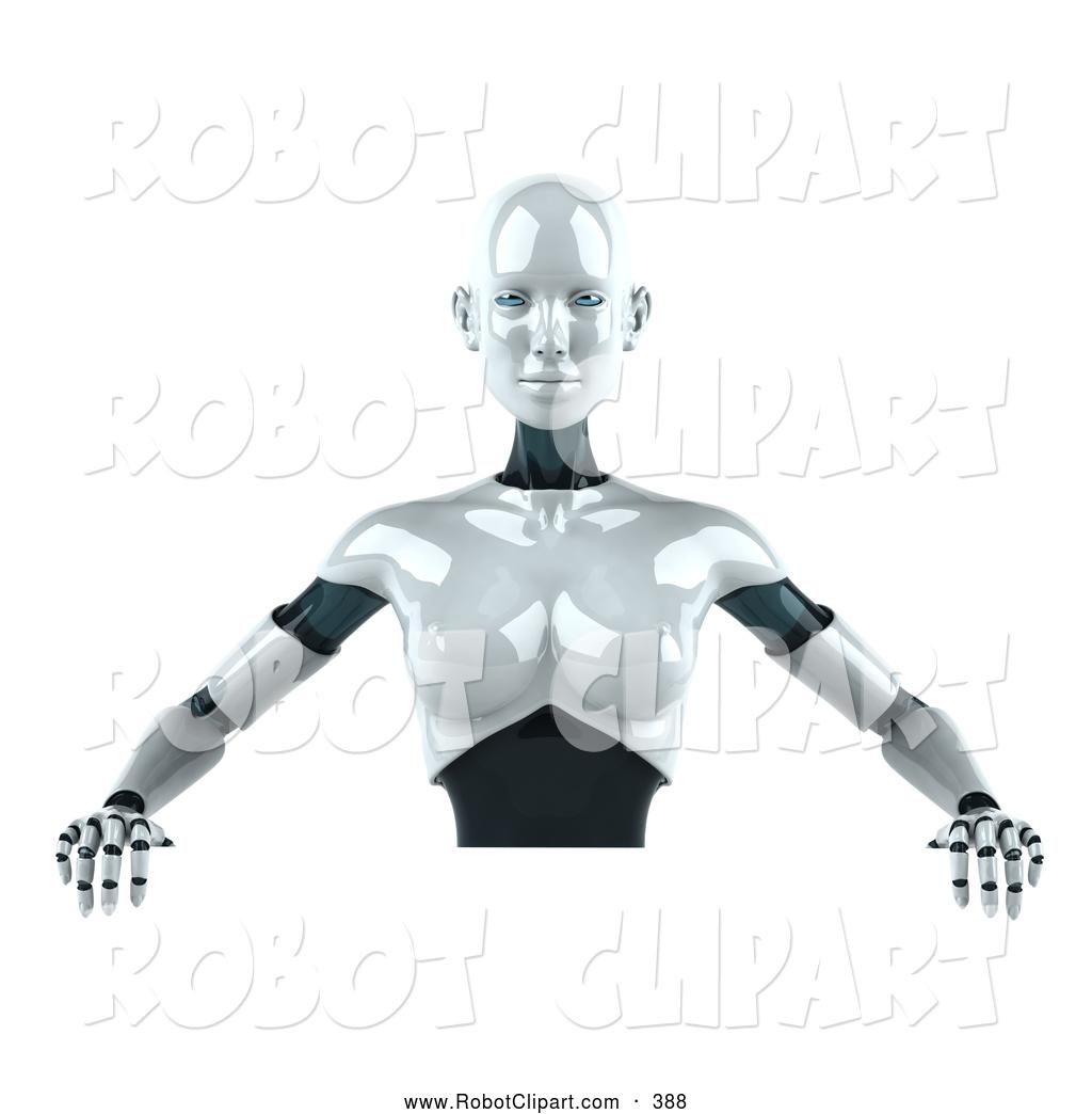 Robot clipart female A 3d Female Robot Blank