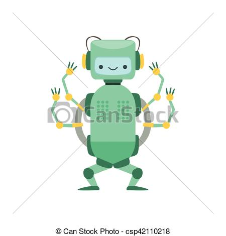 Robot clipart four Robot Friendly Friendly of With