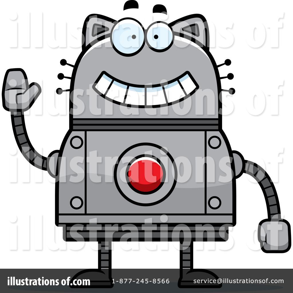 Robot clipart gray Clipart Illustration Free Cat Stock