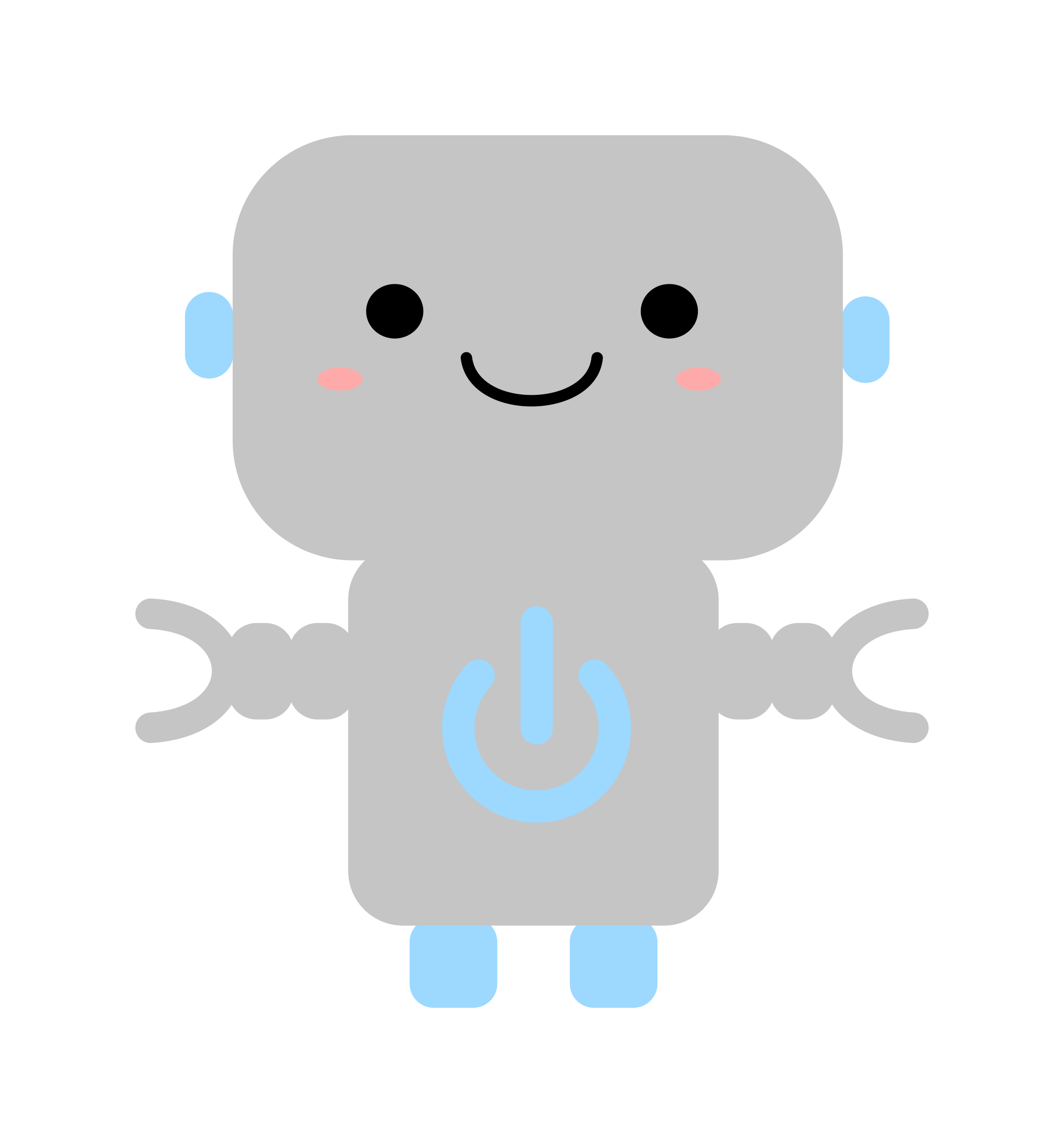 Robot clipart gray Kawaii Robot Symbol Power Robot