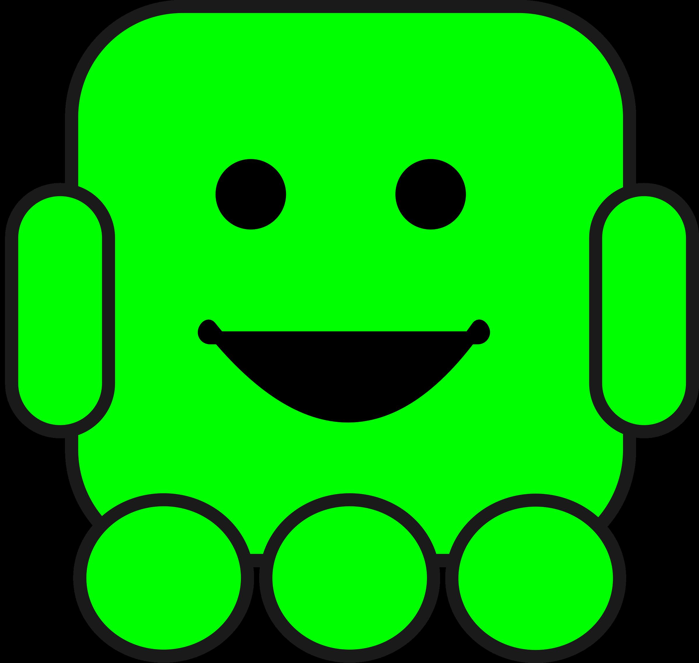 Robot clipart green Friendly Robot Friendly Clipart Robot