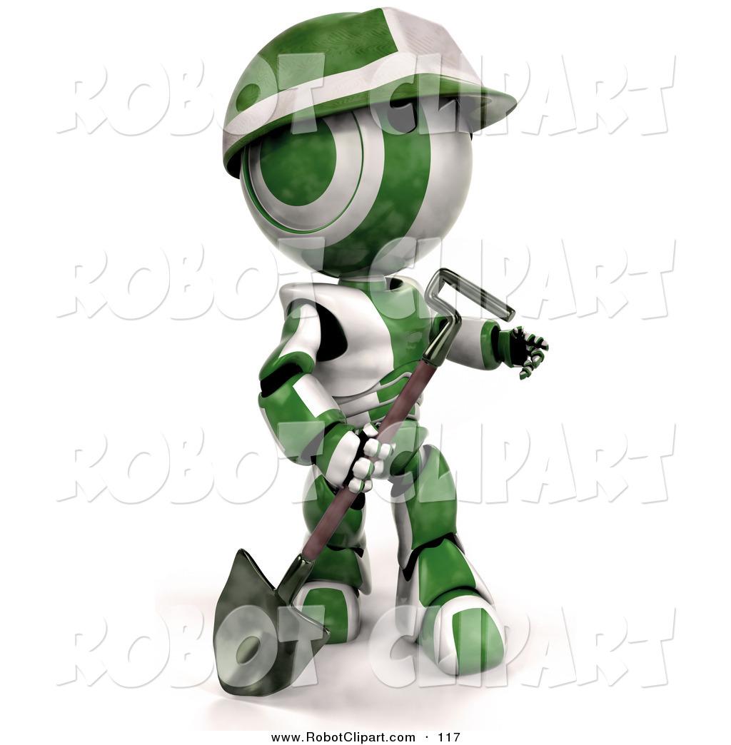 Robot clipart green Clipart AO Robot 3d and