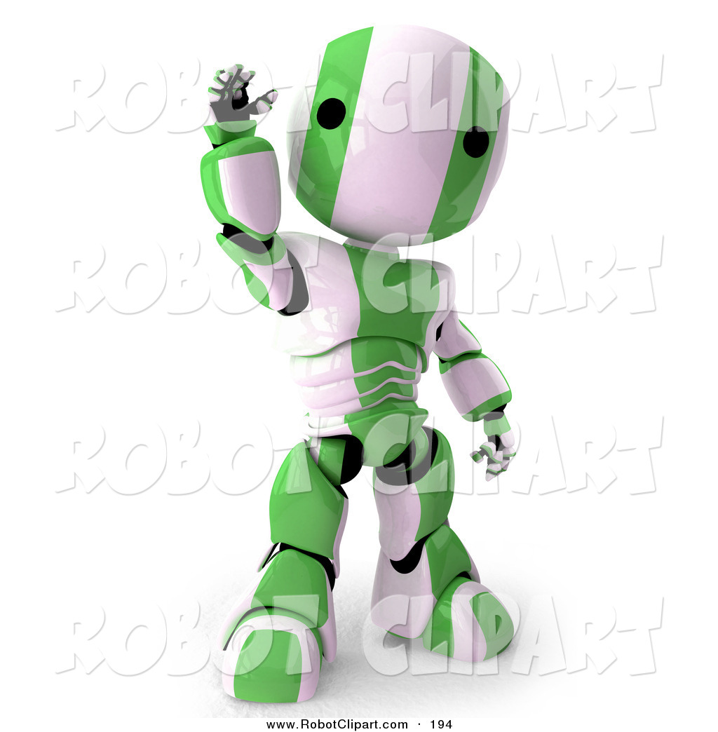 Robot clipart green A Humanoid of White Clipart