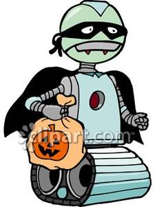 Robot clipart halloween Royalty Treating Treating Halloween on