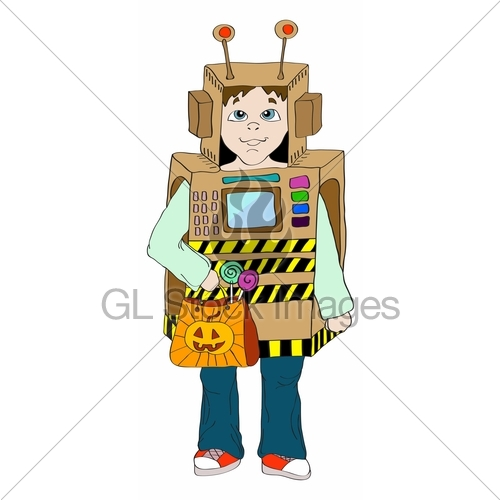 Robot clipart halloween Robot Little Kid Robot Kid