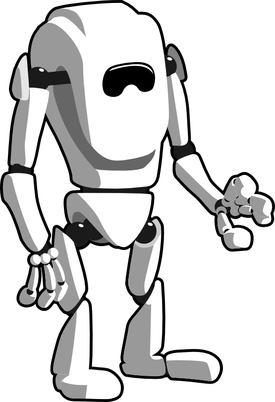Robot clipart halloween #11
