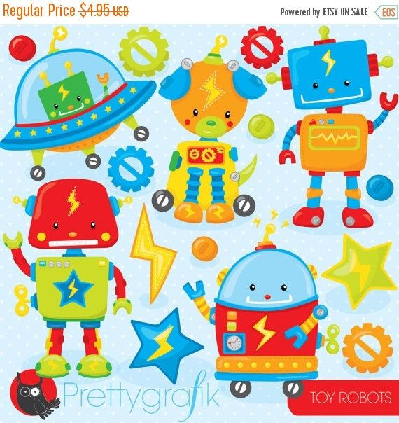 Robot clipart halloween  commercial Toy art High