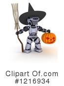 Robot clipart halloween #2