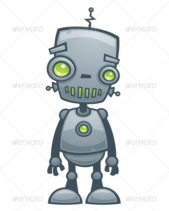 Robot clipart happy Robot Happy Robot Happy Illustrations