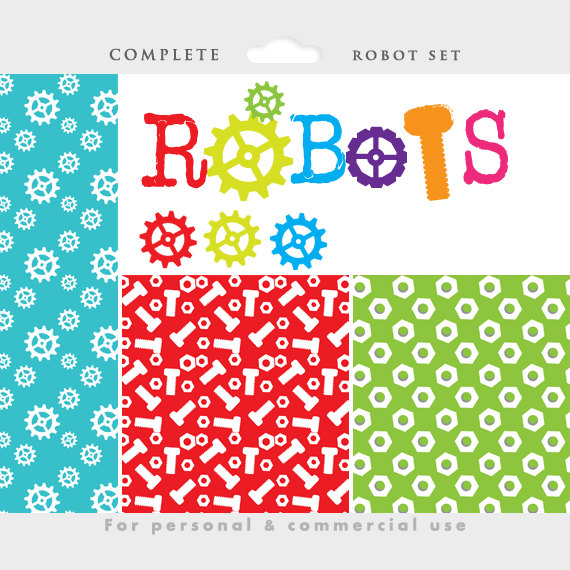 Robot clipart nuts and bolt Clip robots a robot file