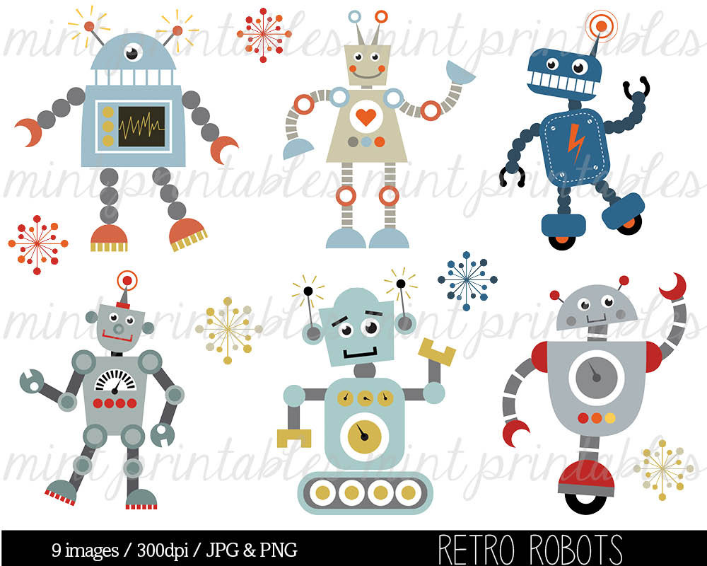 Robot clipart nuts and bolt #11