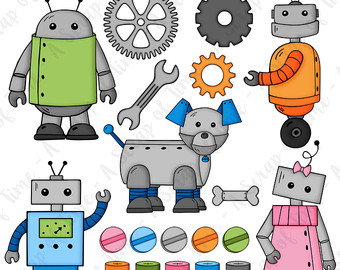 Robot clipart nuts and bolt Robots 20 Drawn clipart Clipart