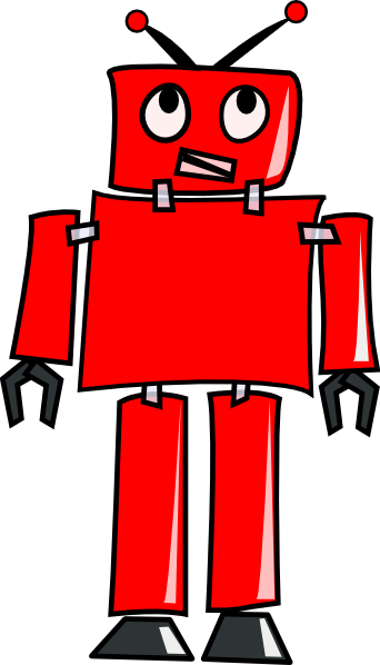 Robot clipart red #1