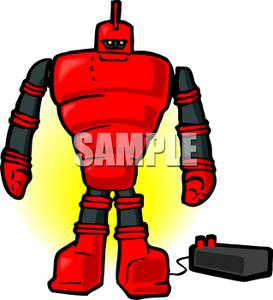 Robot clipart red Robot Image: Clipart and Robot