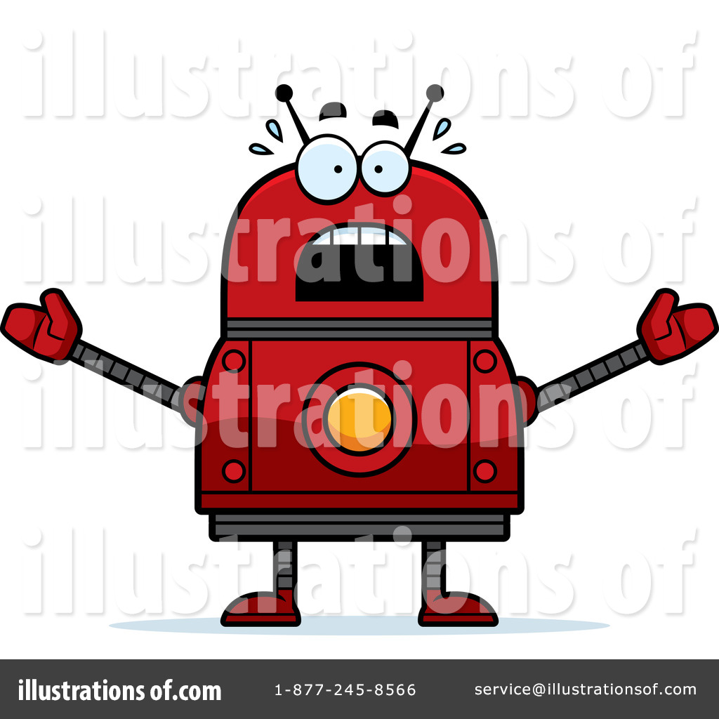 Robot clipart red Illustration Red Cory Stock Clipart