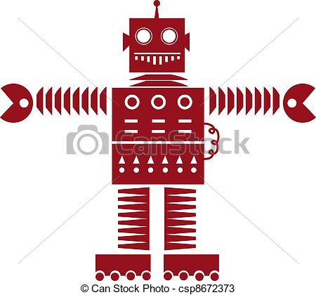 Robot clipart red Clipart of  3D a