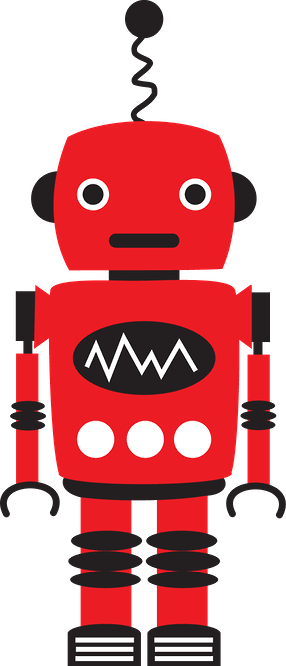 Robot clipart red #2