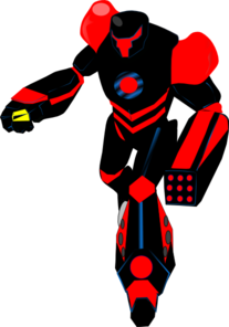 Robot clipart red #5