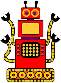 Robot clipart red ON art PAGE Treasures: MORE