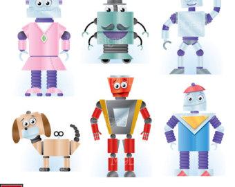 Figurine clipart blue Robot Robots%20clipart Free Art Panda