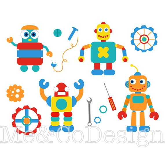 Robot clipart robot gear Art Fun Clipart from and