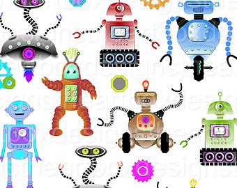 Robot clipart robot gear #3