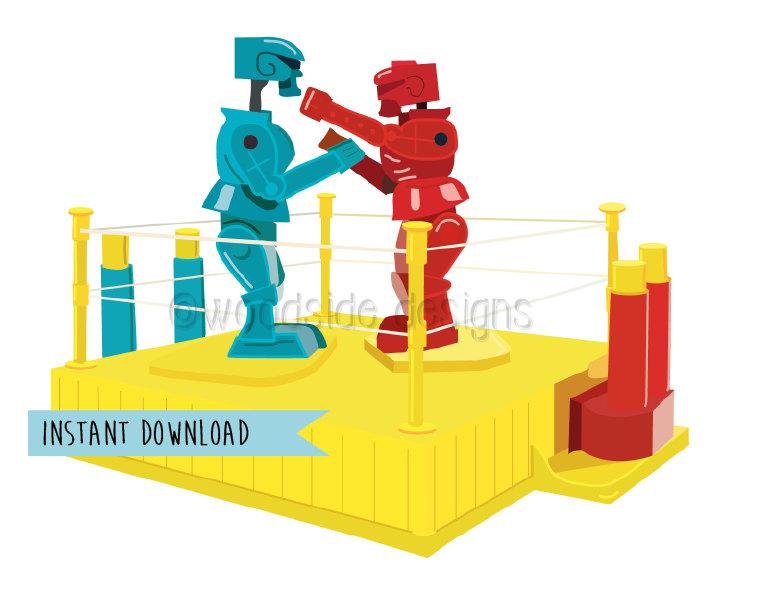 Robot clipart rockem sockem Poster 'em this Rock Sock