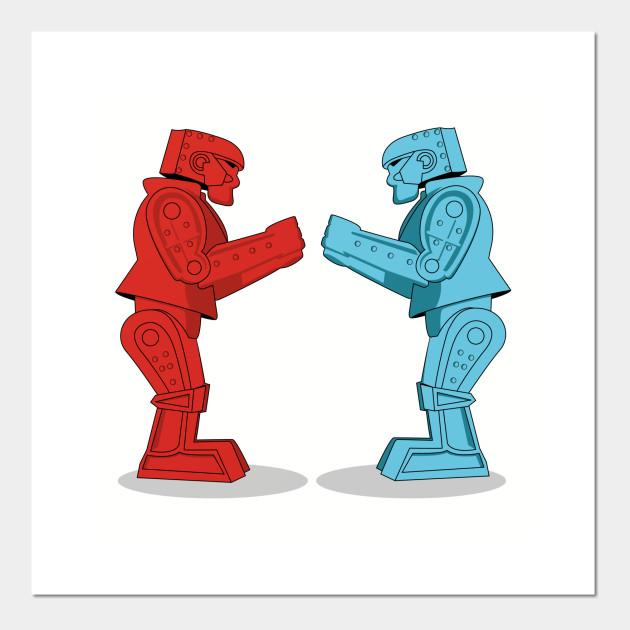 Robot clipart rockem sockem Robots Em Posters em Art