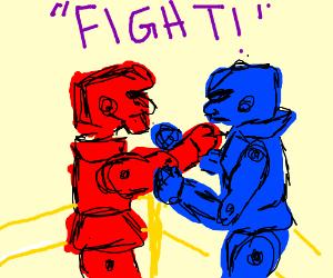Robot clipart rockem sockem Robots 'Em 'em Rock Sock