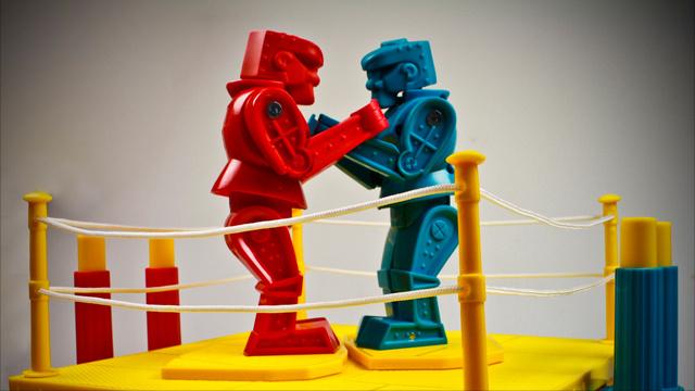 Robot clipart rockem sockem Red boxing of toy figures