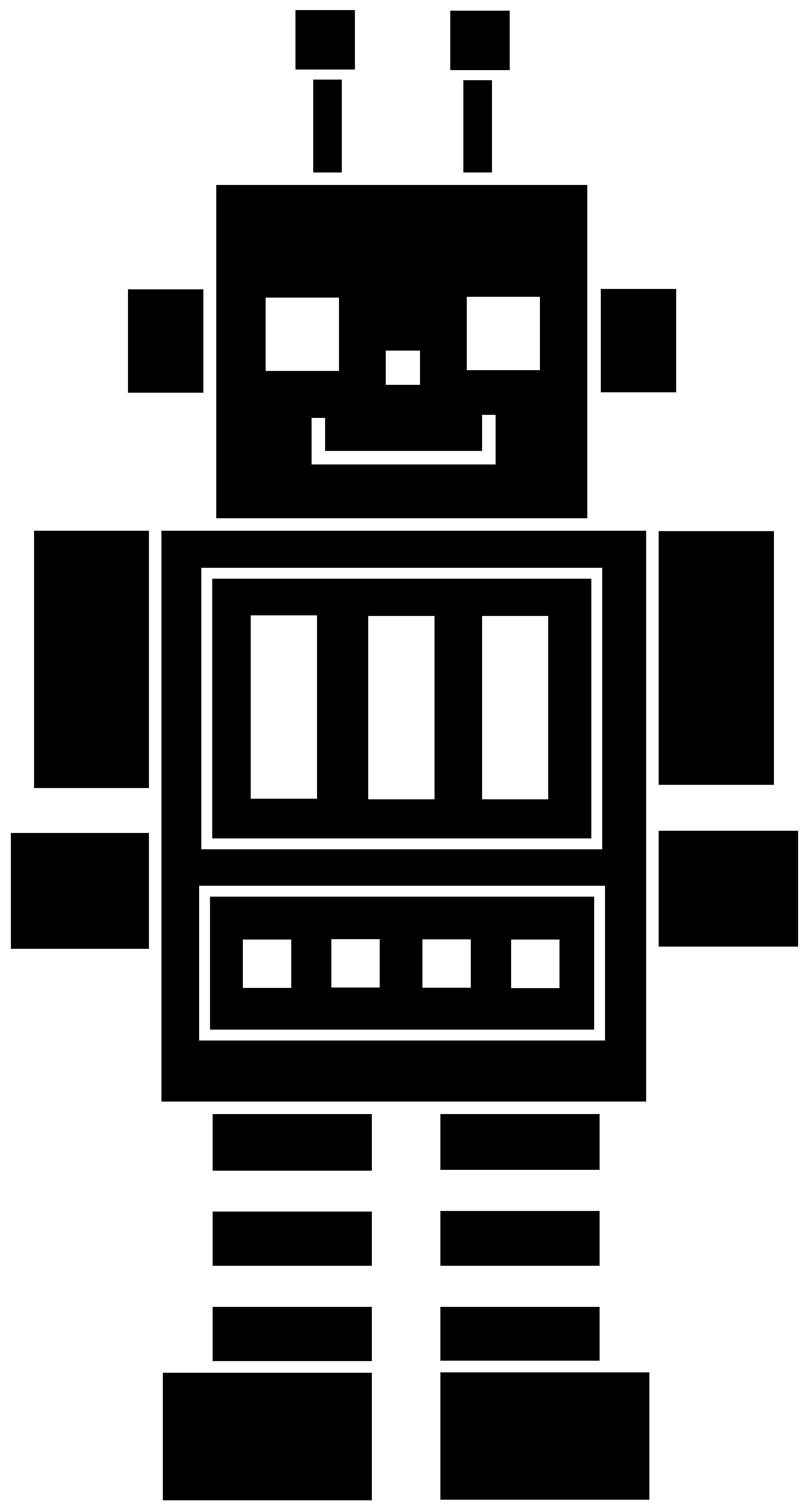 Shadow clipart robot #2