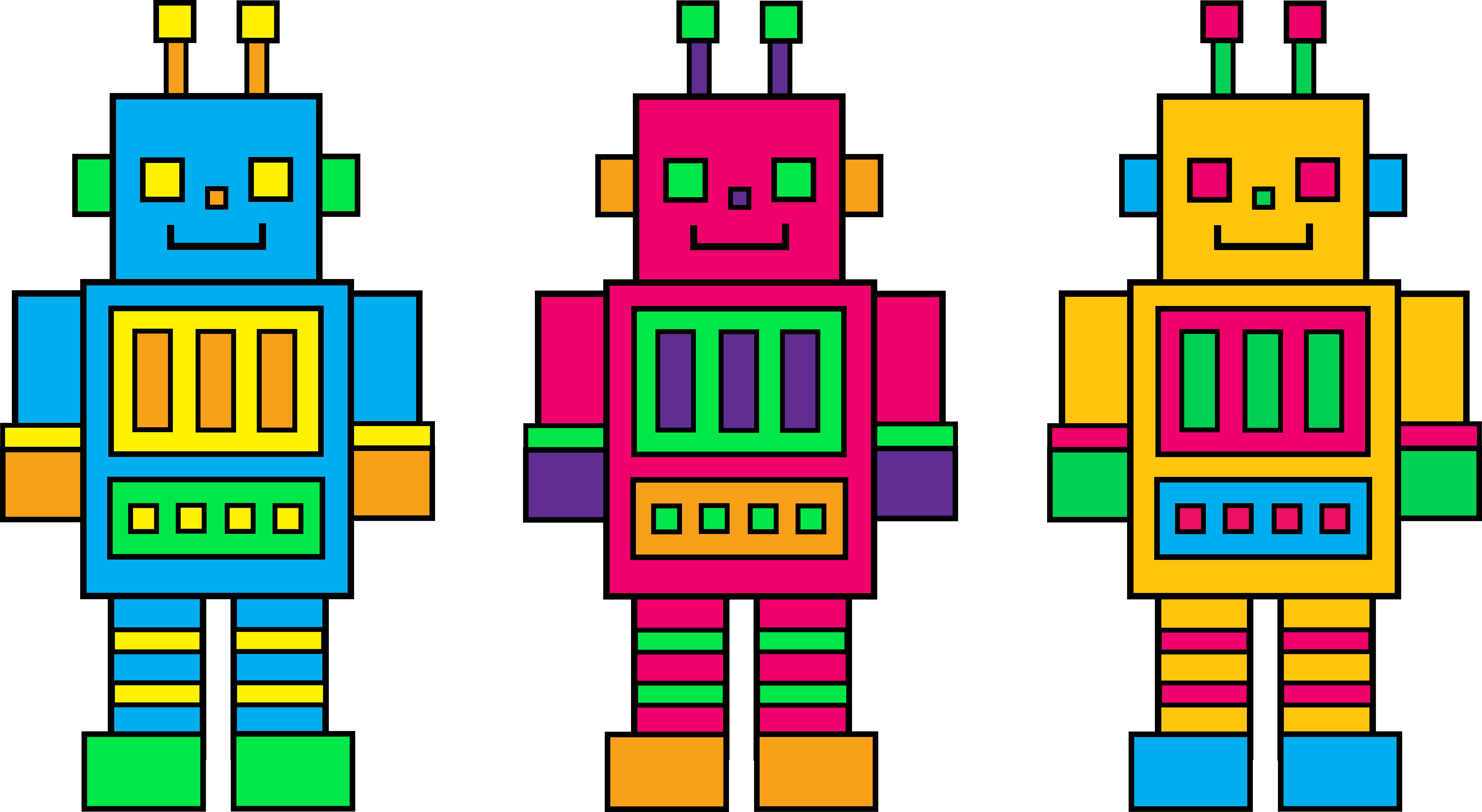 Iiii clipart robot Clip Triple Clipart Clipartwork #3050