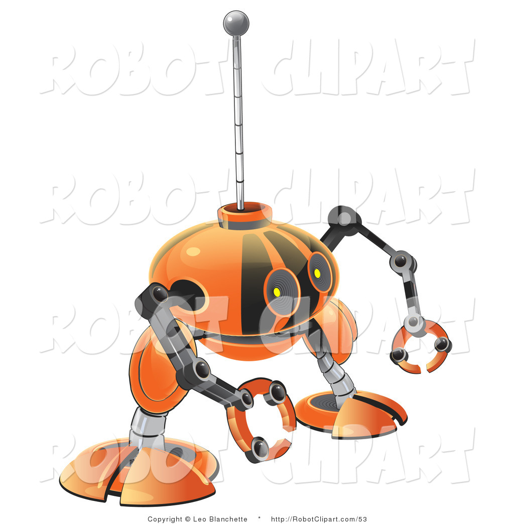 Robot clipart small With Orange Clipart by with
