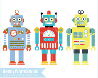Robot clipart small Art B Small Use and