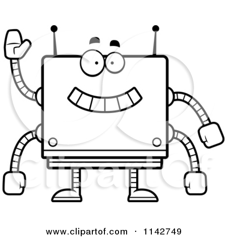 Squares clipart robot Clipart robot clipart white and