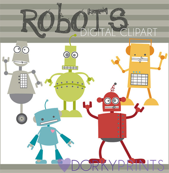 Robot clipart tired Limited Use kid Clipart Robots