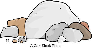 Boulder clipart EPS different rocks boulders Illustrations