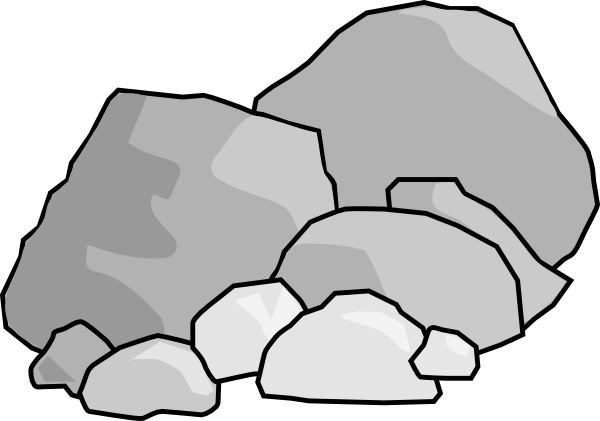 Pebbles clipart small rock #7