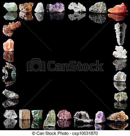 Crystals clipart rock mineral  image of and of