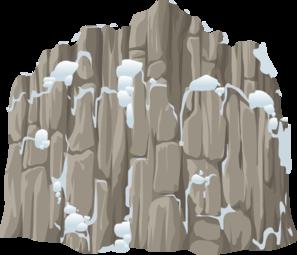 Rock clipart snow #8