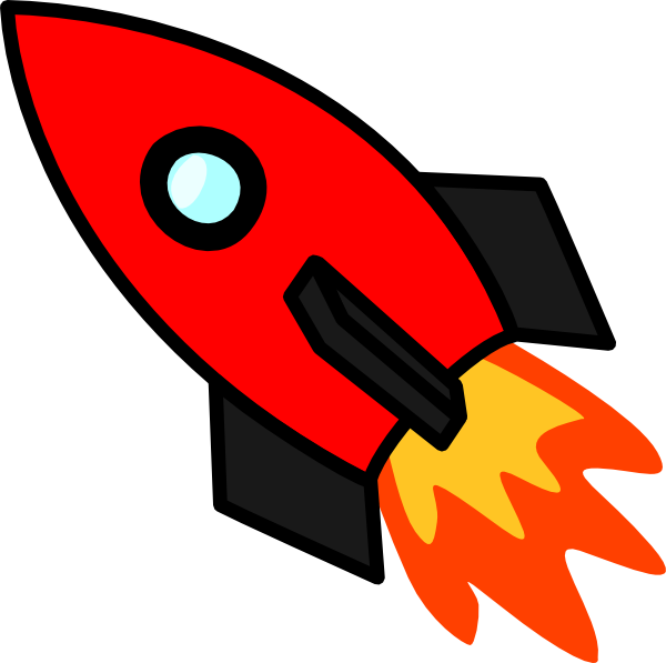 Moving clipart rocket #9