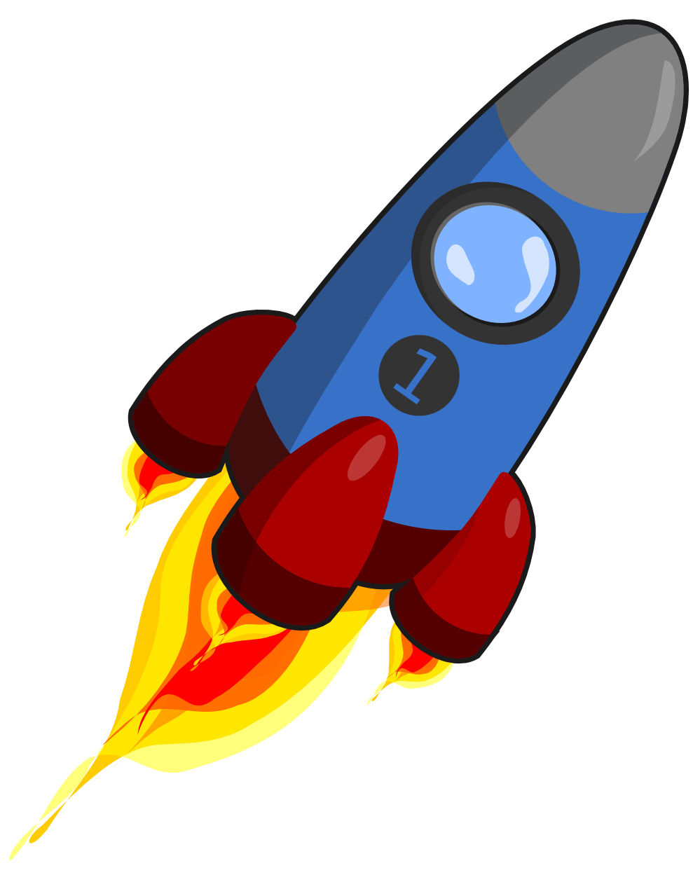 Rocket clipart Clip 3 art outline Rocket