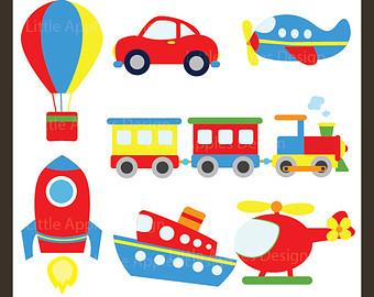 Rocket clipart air transportation Clip Balloon Transportation Boat Commercial