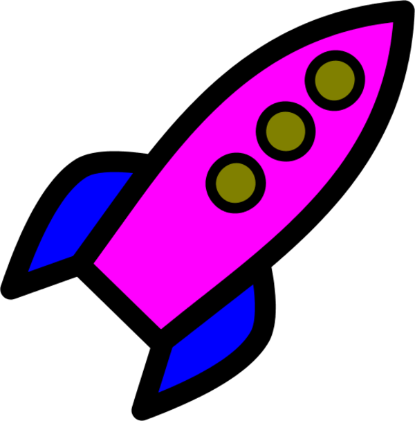 Rocket clipart animated #3