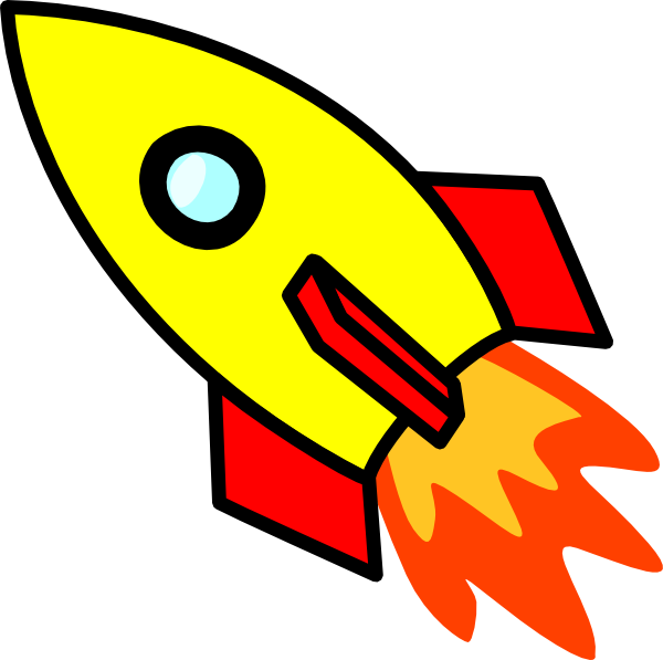 Missile clipart space rocket And free clipart Rocket black
