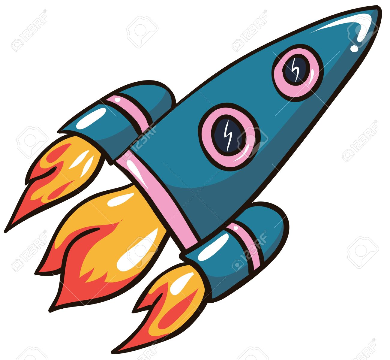 Rocket clipart animated Millions Collection Art Free This
