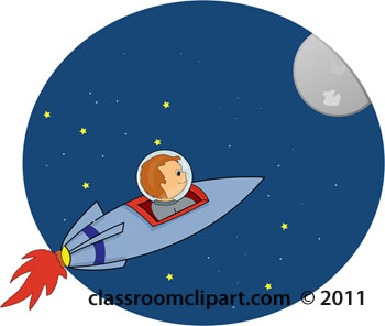 Moon clipart space #3