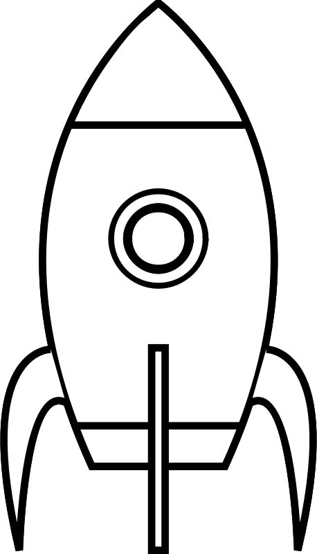 Rocket clipart black and white Cartoon Rocket Clipart (PNG) Moon