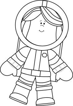 Space clipart black and white Free and Art Google Floating